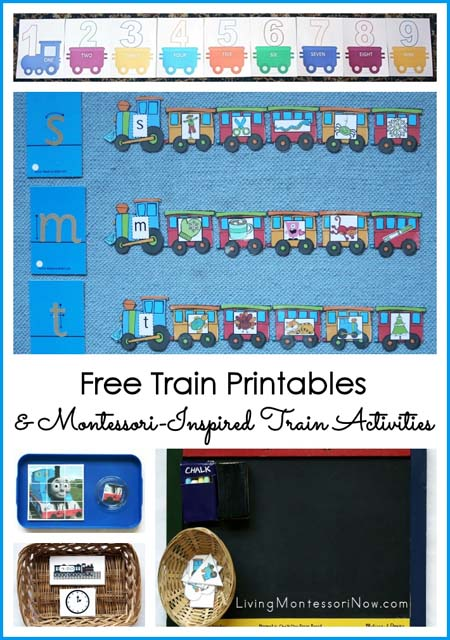 Free Train Printables and Montessori-Inspired Train Activities