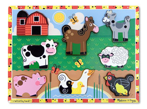 Melissa and Doug Farm Wooden Chunky Puzzle