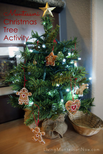 Montessori Christmas Tree Decorating Activity