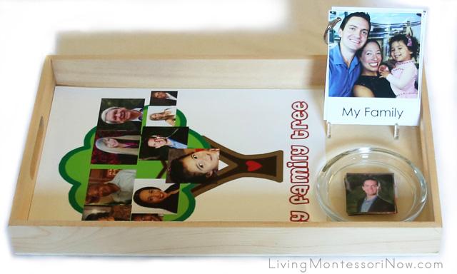 "Montessori-Inspired ""My Family"" Tray"