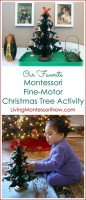 Our Favorite Montessori Fine-Motor Christmas Tree Activity