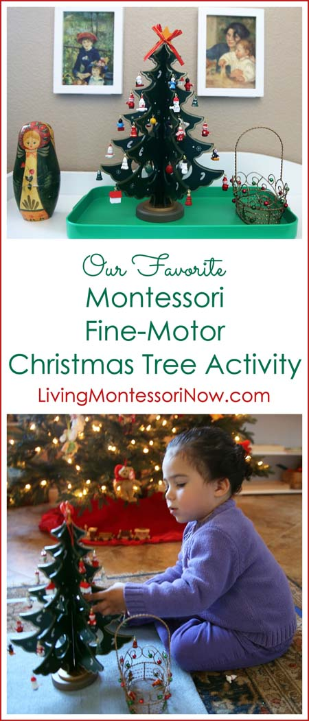 Montessori Monday – Our Favorite Montessori Fine-Motor Christmas Tree Activity