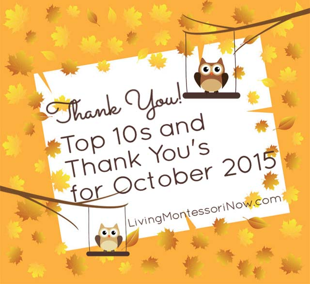 Top 10s and Thank You's for October 2015