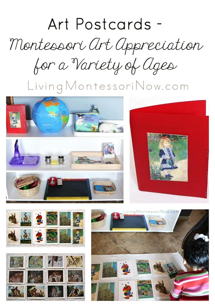 Art Postcards: Montessori Art Appreciation for a Variety of Ages