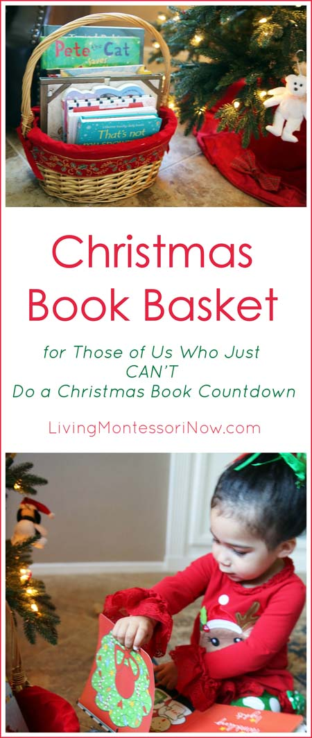 Christmas Book Basket for Those of Us Who Just CAN'T Do a Christmas Book Countdown