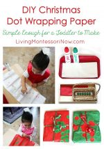 DIY Christmas Dot Wrapping Paper … Simple Enough for a Toddler to Make