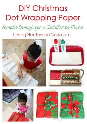 DIY Christmas Dot Wrapping Paper