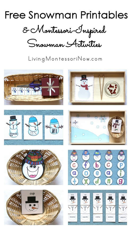 Free Snowman Printables and Montessori-Inspired Snowman Activities