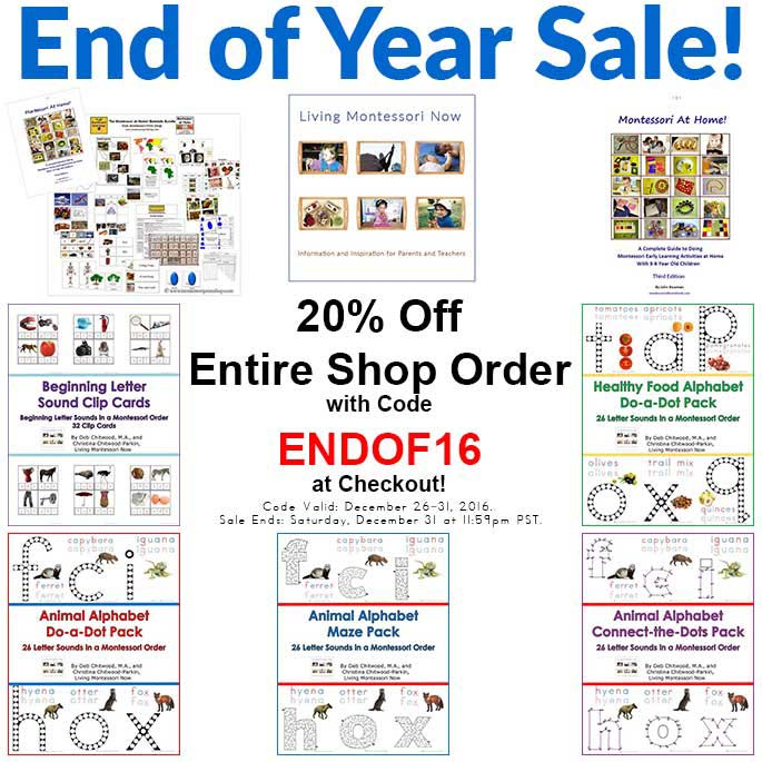 Living Montessori Now Shop Products and Endof16 Sale!