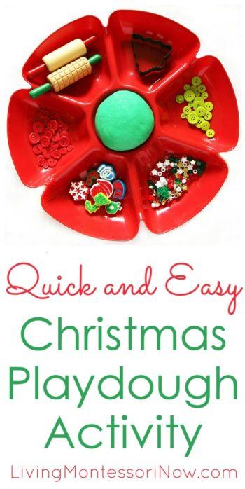Quick and Easy Christmas Playdough Activity