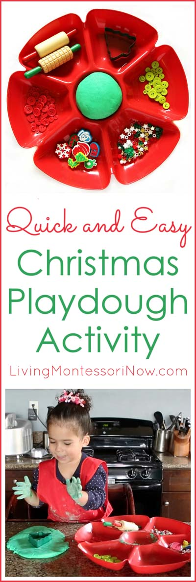 Quick and Easy Christmas Playdough Activity