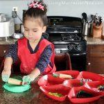 Quick and Easy Christmas Playdough Activity {Montessori Monday}