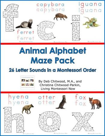 Animal Alphabet Maze Pack