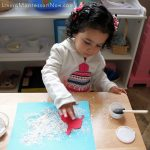 The Snowy Day Eggshell Crushing and Pin Poking Activity