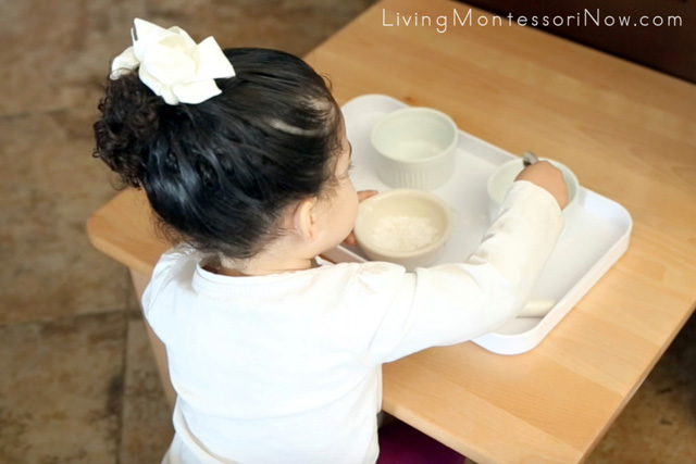 Spooning Crushed Eggshells