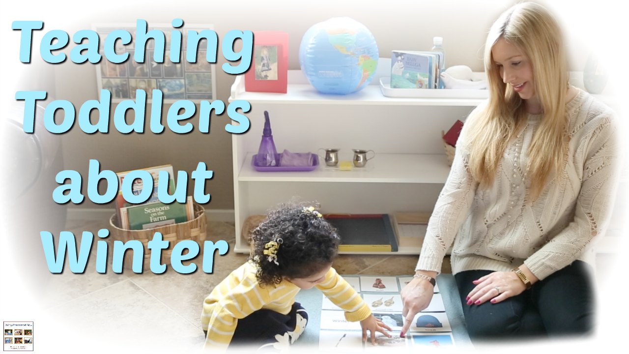 teaching toddlers about winter with the montessori 3