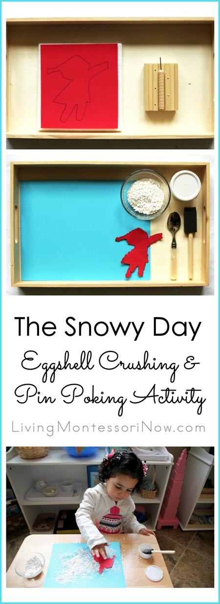 The Snowy Day Eggshell Crushing & Pin Poking Activity
