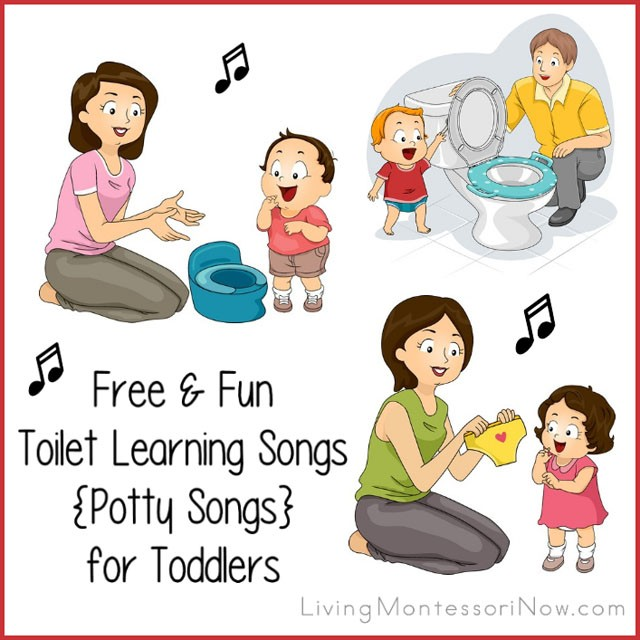 Free & Fun Toilet Learning Songs {Potty Songs} for Toddlers