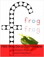 Frog Do-a-Dot Printable (Montessori-Inspired Instant Download)