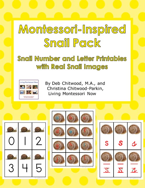 Montessori-Inspired Snail Pack