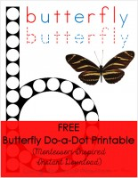 Butterfly Do-a-Dot Printable (Montessori-Inspired Instant Download)