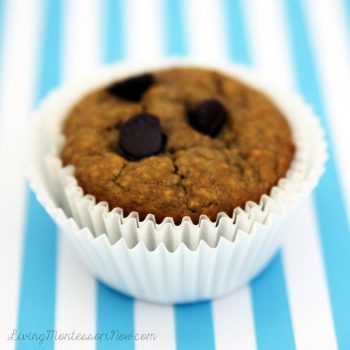 Flourless Peanut Butter Chocolate Chip Muffin
