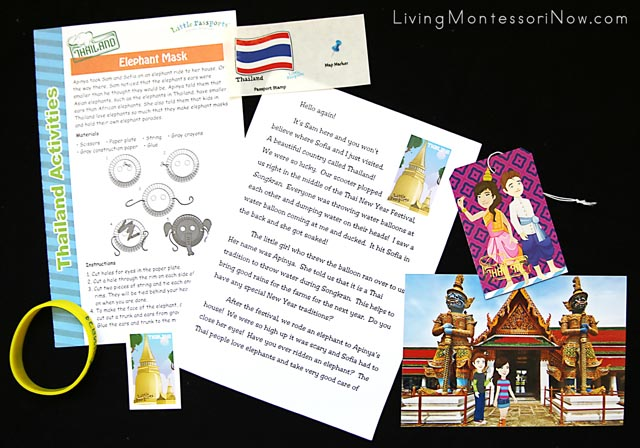 Contents of the Little Passports Thailand Package