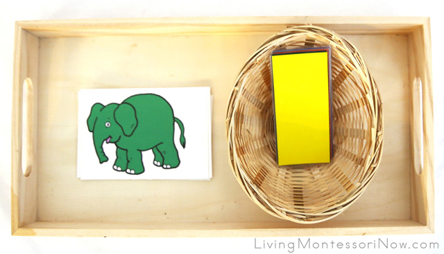 Elephant Color Matching Tray