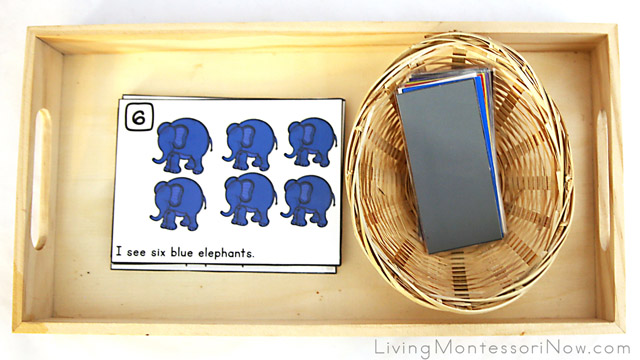 Elephant Color and Counting Cards or Book