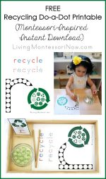 Free Recycling Do-a-Dot Printable (Montessori-Inspired Instant Download)