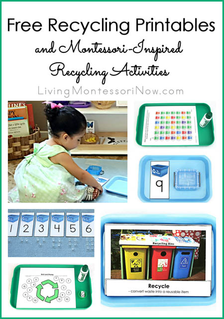 Free Recycling Printables and Montessori-Inspired Recycling Activities