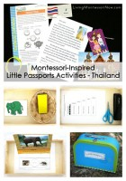 Montessori-Inspired Little Passports Activities - Thailand