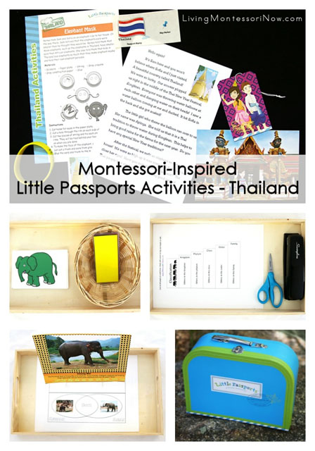Montessori-Inspired Little Passports Activities - Thailand