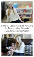 Simple, Easily Rotated Activity to Teach Letter Sounds to Toddlers and Preschoolers