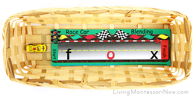 Beginning Reading - Race Car Blending Basket