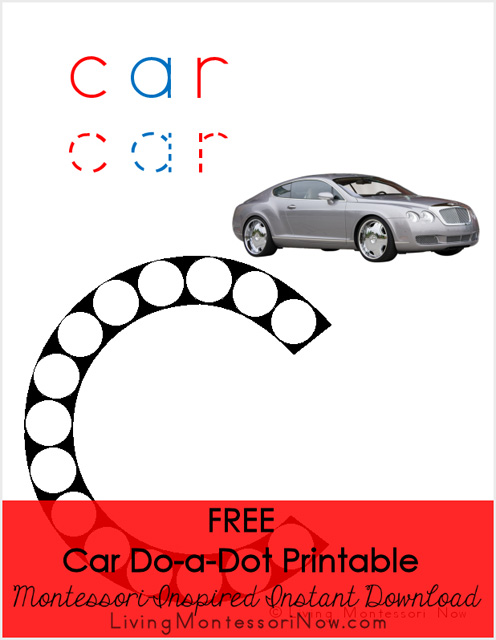 Car Do-a-Dot Printable (Montessori-Inspired Instant Download)