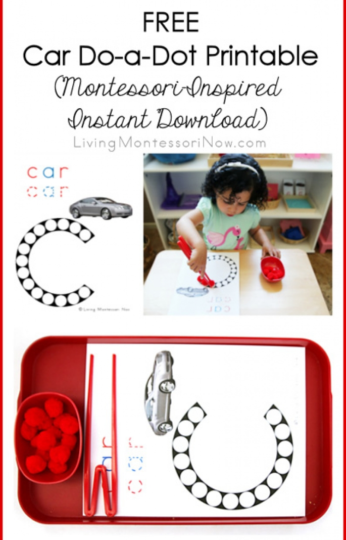 Free Car Do-a-Dot printable (Montessori-Inspired Instant Download)