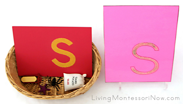 /S/ Letter Sound Basket and Sand Letter S