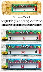Super-Cool Beginning Reading Activity – Race Car Blending {Montessori Monday}