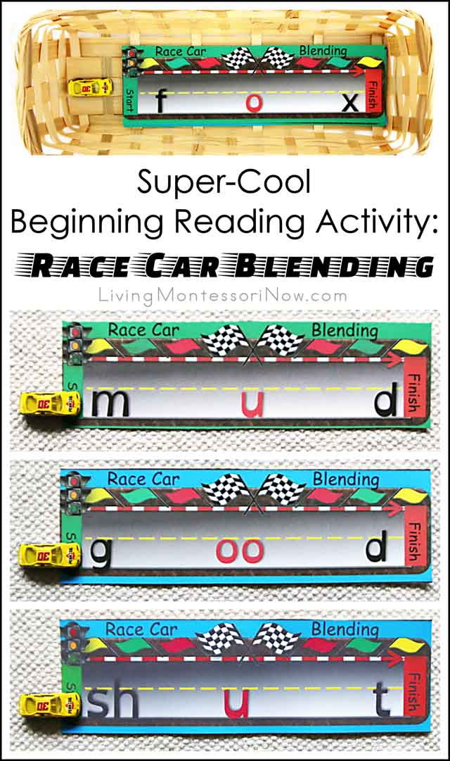 Super-Cool Beginning Reading Activity - Race Car Blending