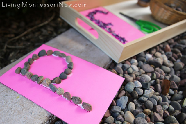 Tactile Nature Letters (Pebble Letter P)