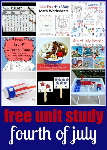 Free Fourth of July Unit Study