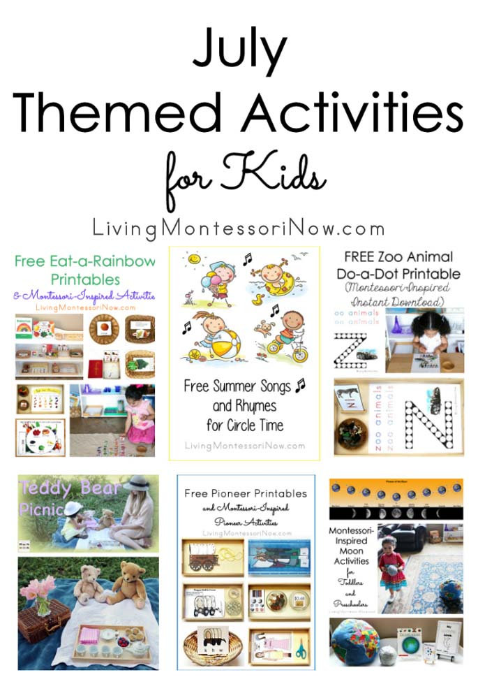July Themed Activities for Kids