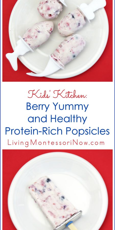 Kids' Kitchen - Berry Yummy and Healthy Protein-Rich Popsicles_Pinterest