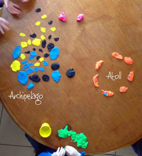 Playdough Landforms (Photo from Teach Beside Me)