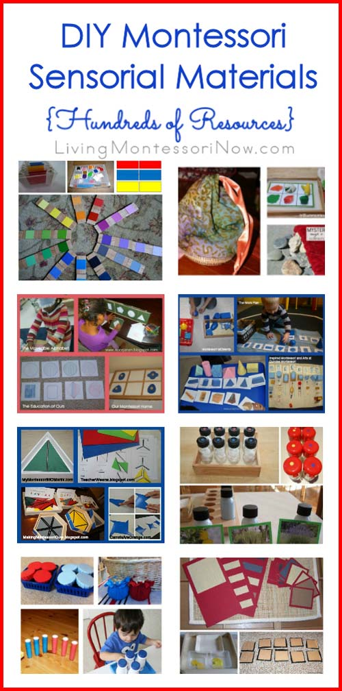 DIY Montessori Sensorial Materials {Hundreds of Resources}