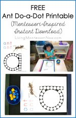 FREE Ant Do-a-Dot Printable {Montessori-Inspired Instant Download}