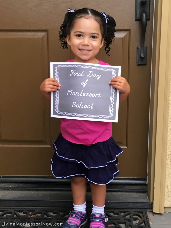 First Day of Montessori School