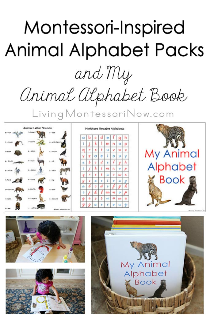 Montessori-Inspired Animal Alphabet Packs & My Animal Alphabet Book