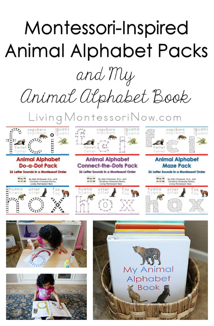 Montessori-Inspired Animal Alphabet Packs and My Animal Alphabet Book